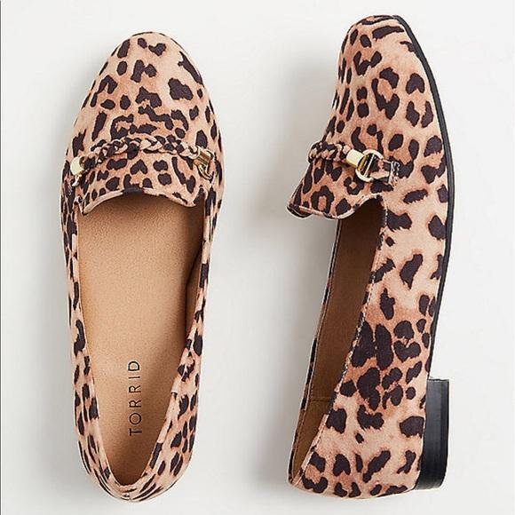 Nwt Leopard Print Loafer Wide Width